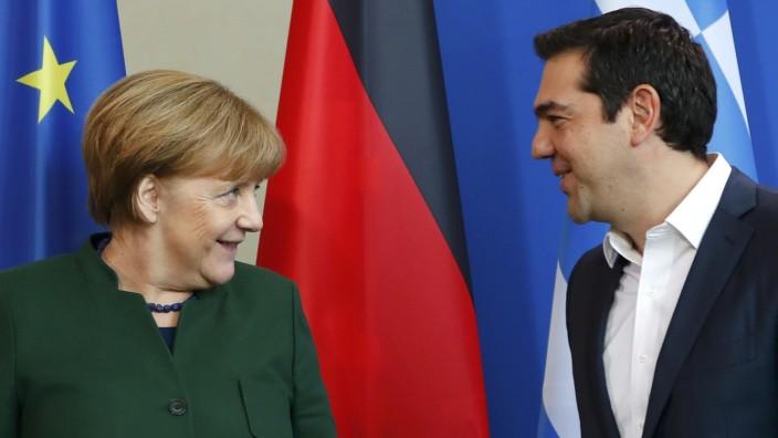Griechenlands Premierminister Alexis Tsipras und Bundeskanzlerin Angela Merkel