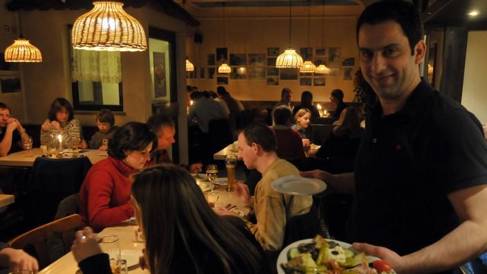 Griechisches Lokal in München, 2008