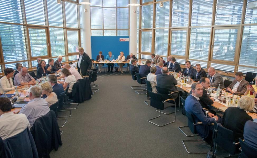 Asylstreit - Sondersitzung CDU-Vorstand