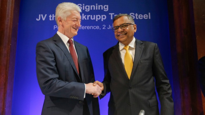 Thyssenkrupp AG Tata Steel merger, Brussels, Belgium - 02 Jul 2018