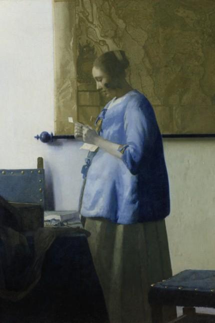 Briefleserin in Blau, um 1663  Öl auf Leinwand, 46,5 cm x 39 cm  Rijksmuseum Amsterdam, Leihgabe der Stadt Amsterdam (Vermächtnis A. van der Hoop) © Rijksmuseum, Amsterdam