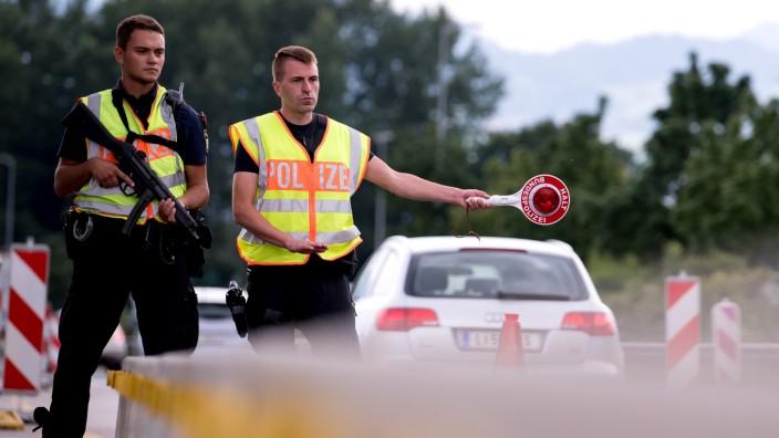 Kontrolle an der deutsch-österreichischen Grenze