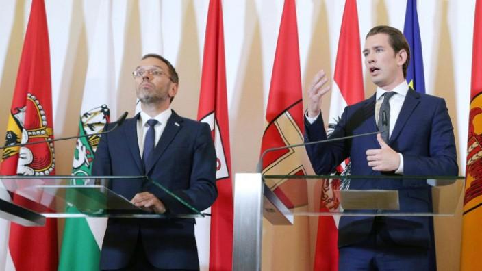 Herbert Kickl und Sebastian Kurz