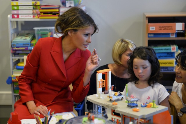 US First Lady Melania Trump On Official Visit In Paris : Day One