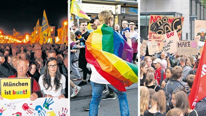 München ist bunt - Demonstration