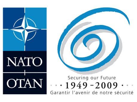 Logo Nato-Gipfel 2009, dpa