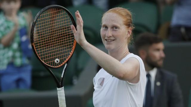 Tennis international: Überraschte gegen Garbiñe Muguruza: die Belgierin Alison Van Uytvanck steht im Achtelfinale.