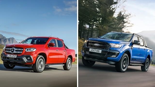 Pick-up-Vergleich: Mercedes X-Klasse vs. Ford Ranger