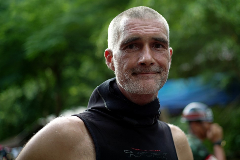 Danish diving instructor Ivan Karadzic poses during an interview with Reuters near the Tham Luang cave complex, where 12 boys and their soccer coach are trapped, in the northern province of Chiang Rai