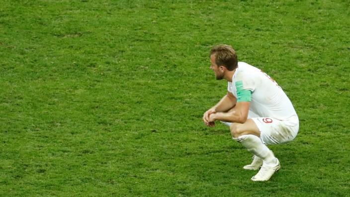 Harry Kane nach dem WM-Halbfinale England gegen Kroatien