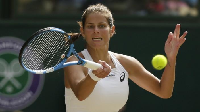 US Open: Julia Görges, hier im Halbfinale von Wimbledon, hat den Einzug in die zweite Runde der US Open geschafft.