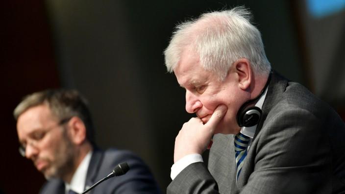 Horst Seehofer 2018 beim Treffen der EU-Innenminister