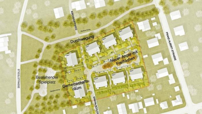 Lageplan Wohnen für alle an der Erwin-Schleich-Straße in Allach