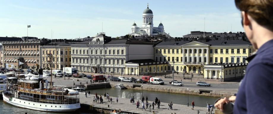 Blick auf Helsinki