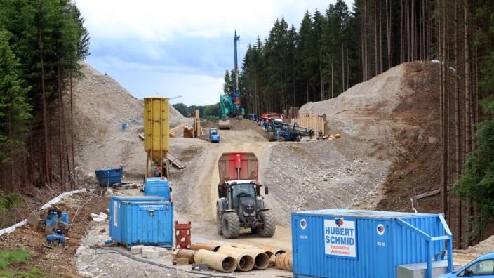 Bau der Umgehungsstraße