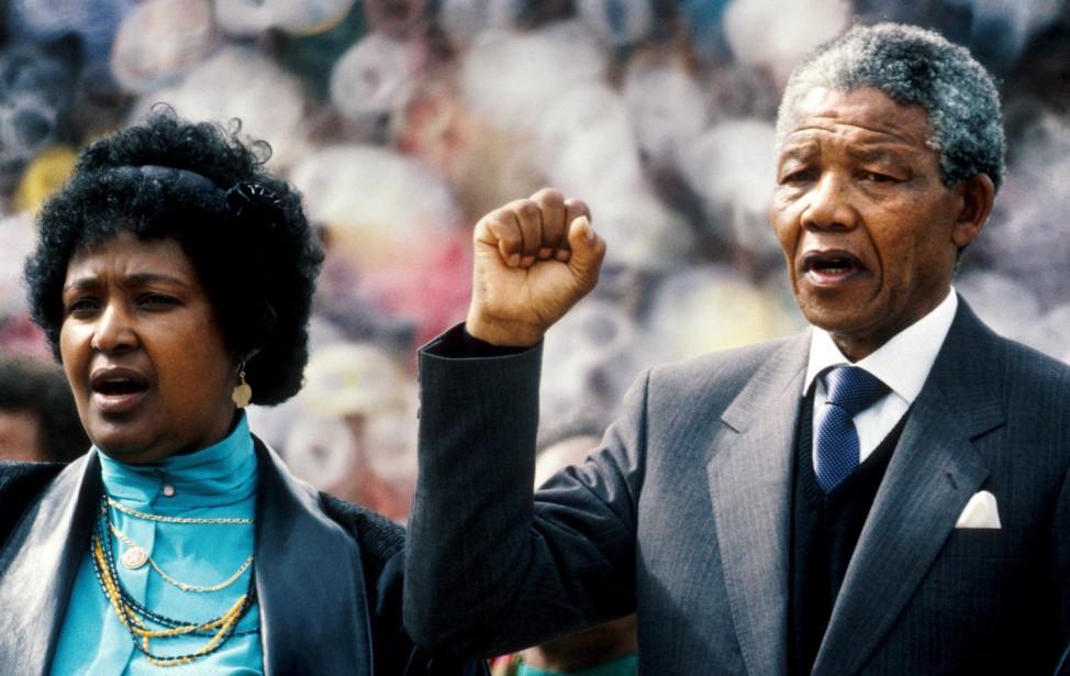 Winnie und Nelson Mandela