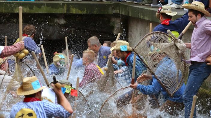 Bislang war der Memminger Fischertag eine rein männliche Veranstaltung. Eine Rechtsanwältin fordert nun, dass erstmals Frauen daran teilnehmen dürfen.