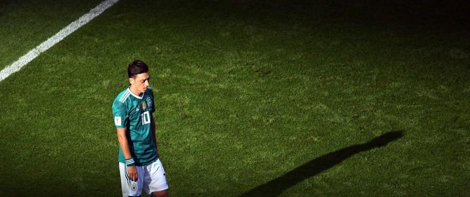 Mesut Özil beim WM-Vorrundenspiel gegen Südkorea in Kasan 2018