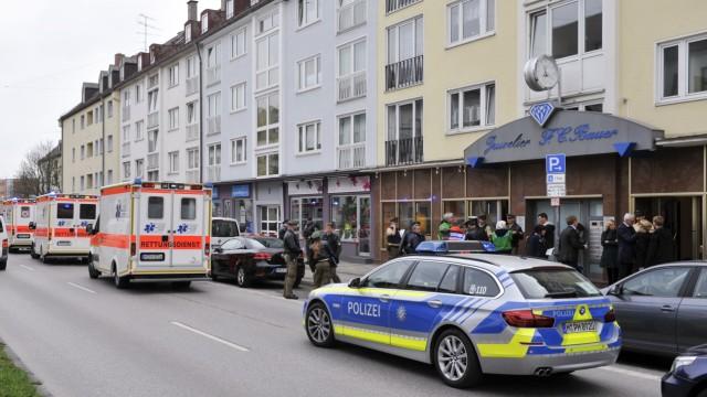 """Raubüberfall auf Juwelierladen """"F.C. Bauer"""" in München, 2017"""