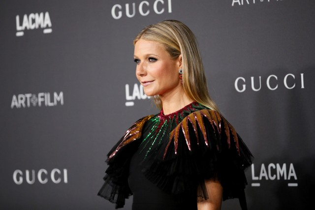 FILE PHOTO: Actor Gwyneth Paltrow poses at the Los Angeles County Museum of Art (LACMA) Art+Film Gala in Los Angeles