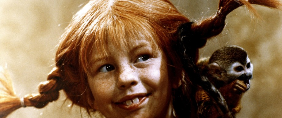 Inger NILSSON, als PIPPI LANGSTRUMPF mit dem Affen 'Herr Nilsson', 1969