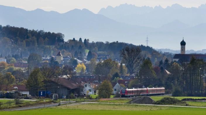 S-Bahn Ausweichgleis Wiesham