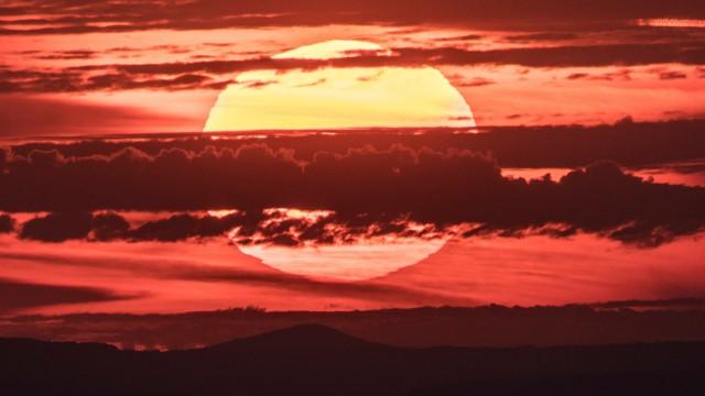 Sonnenaufgang in Hessen