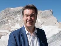 CSU: Markus Söder bei einer Kabinettssitzung auf der Zugspitze