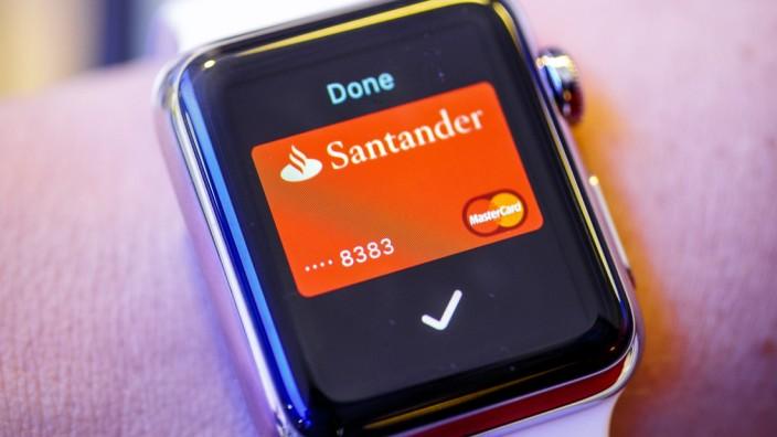 Apple Pay über eine Apple Watch