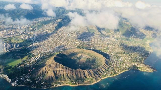Diamond Head Krater auf O'ahu, Hawaii