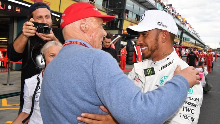 MELBOURNE GRAND PRIX CIRCUIT AUSTRALIA MARCH 24 Pole sitter Lewis Hamilton GBR Mercedes AMG F; Niki Lauda, Bildergalerie, Tod, Unfall