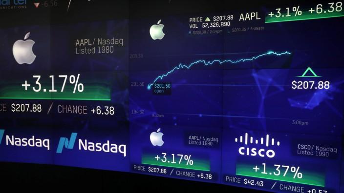 Apple-Aktienkurs an der Nasdaq