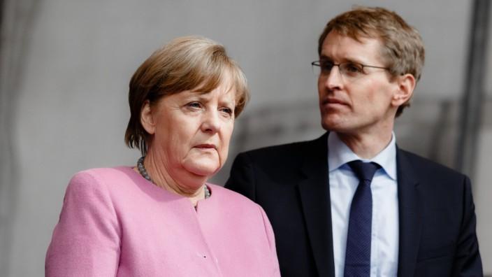 CDU Wahlkampf mit Merkel und Günther