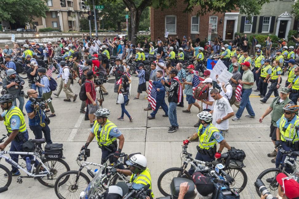 Jahrestag Charlottesville  - Rechter Aufmarsch in Washington