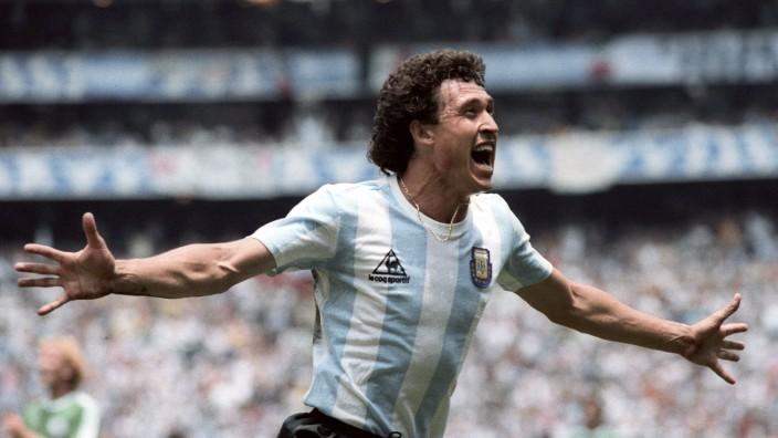 VALDANO Jorge FINALE Fußball Weltmeisterschaften 1986 Mexico City Argentinien Deutschland 3 2 Fußb