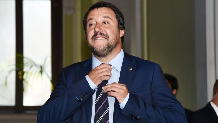 Mailand Salvini empfängt Orban Db Milano 28 08 2018 incontro fra il Ministro degli Interni Italia