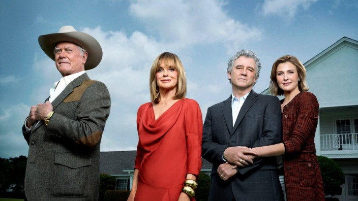 Still of Patrick Duffy Larry Hagman Linda Gray and Brenda Strong in Dallas Season 1 2012 Los An