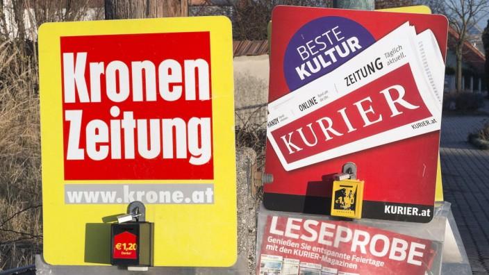 Kronen Zeitung und Kurier Sonntagsverkauf