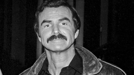 Director Dick Richards and Burt Reynolds pose at the Union Plaza Hotel-Casino during filming of the movie ÒHeatÓ in Las Vegas