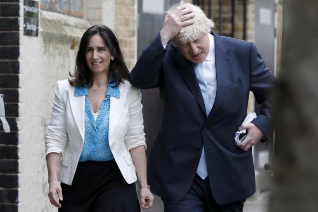 FILE PHOTO: London mayor Boris Johnson arrives to cast his vote in Islington in London