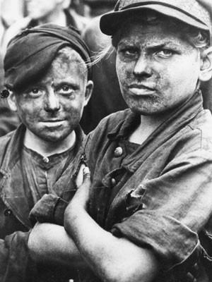 Bergbau-Lehrlinge in der Nachkriegszeit, Foto: SV-Bilderdienst