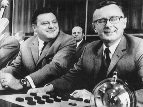 Franz-Josef Strauß (links) und Karl Schiller, Foto: dpa
