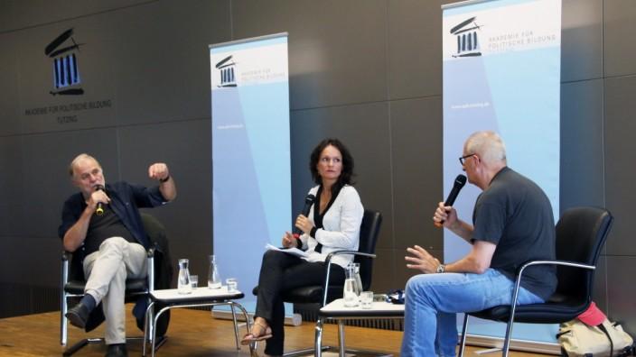 Filmgespräch mit Graf und Bierbichler; Beim Filmgespräch in Tutzing