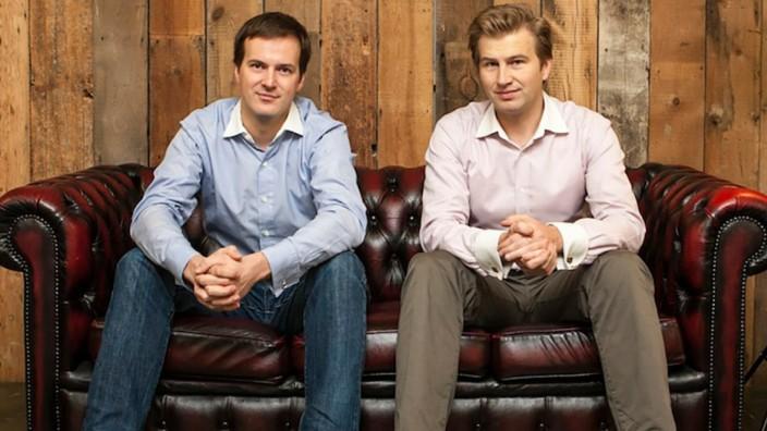 Finanzen: Taavet Hinrikus (links) und Kristo Käärmann gründeten die Fintech-Firma 2011. Inzwischen ist Transferwise profitabel und mit 1,6 Milliarden Dollar bewertet.