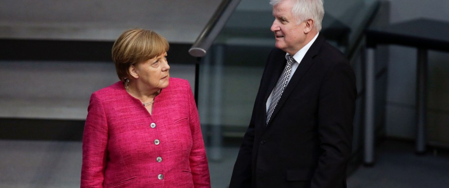 Merkel und Seehofer: Von guten Vorsätzen ist nicht viel geblieben: Die Führer der Union Angela Merkel und Horst Seehofer