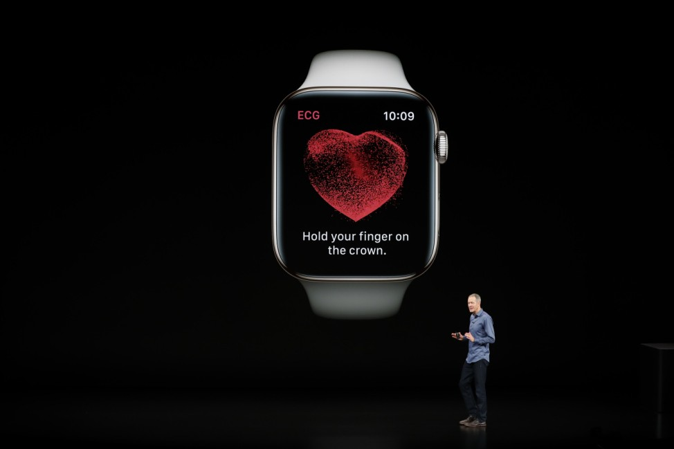 Williams, Chief Operating Officer of Apple , speaks about the the new Apple Watch Series 4 at an Apple Inc product launch in Cupertino