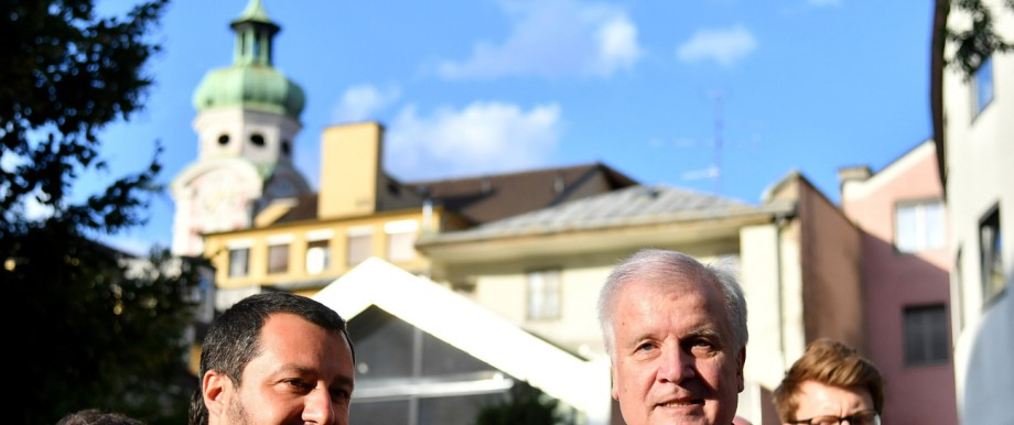 Matteo Salvini und Horst Seehofer 2018 in Innsbruck
