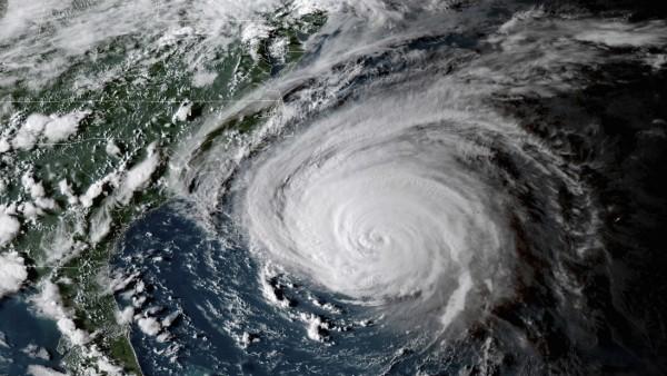 Hurrikan Florence: Aufnahme aus der ISS