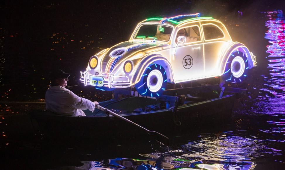 Bootsparade auf dem Fluss Derwent