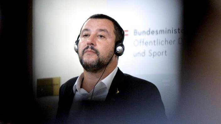 Asylpolitik: Italiens Innenminister Matteo Salvini provozierte seine Kollegen bei einem Treffen in Wien mit Aussagen zur Migration.